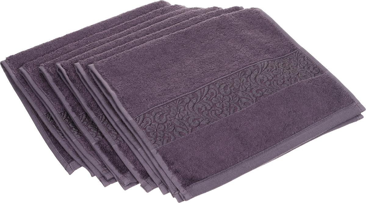 Набор полотенец Issimo Home Valencia, цвет: пурпурный, 30 х 50 см, 6 шт00000004876Набор Issimo Home Valencia состоит из 6 полотенец, выполненных из 60% бамбукового волокна и 40% хлопка. Такими полотенцами не нужно вытираться - только коснитесь кожи - и ткань сама все впитает. Такая ткань впитывает в 3 раза лучше, чем хлопок. Набор из маленьких полотенец-салфеток очень практичен - он станет незаменимым в дороге и в путешествиях. Кроме того, это хороший, красивый и изысканный подарок. Несмотря на богатую плотность и высокую петлю полотенец, они быстро сохнут, остаются легкими даже при намокании.
