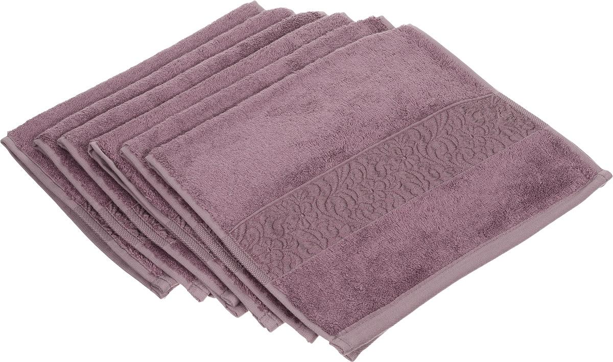 Набор полотенец Issimo Home Valencia, цвет: розово-лиловый, 30 х 50 см, 6 шт00000004840Набор Issimo Home Valencia состоит из 6 полотенец, выполненных из 60% бамбукового волокна и 40% хлопка. Такими полотенцами не нужно вытираться - только коснитесь кожи - и ткань сама все впитает. Такая ткань впитывает в 3 раза лучше, чем хлопок. Набор из маленьких полотенец-салфеток очень практичен - он станет незаменимым в дороге и в путешествиях. Кроме того, это хороший, красивый и изысканный подарок. Несмотря на богатую плотность и высокую петлю полотенец, они быстро сохнут, остаются легкими даже при намокании.