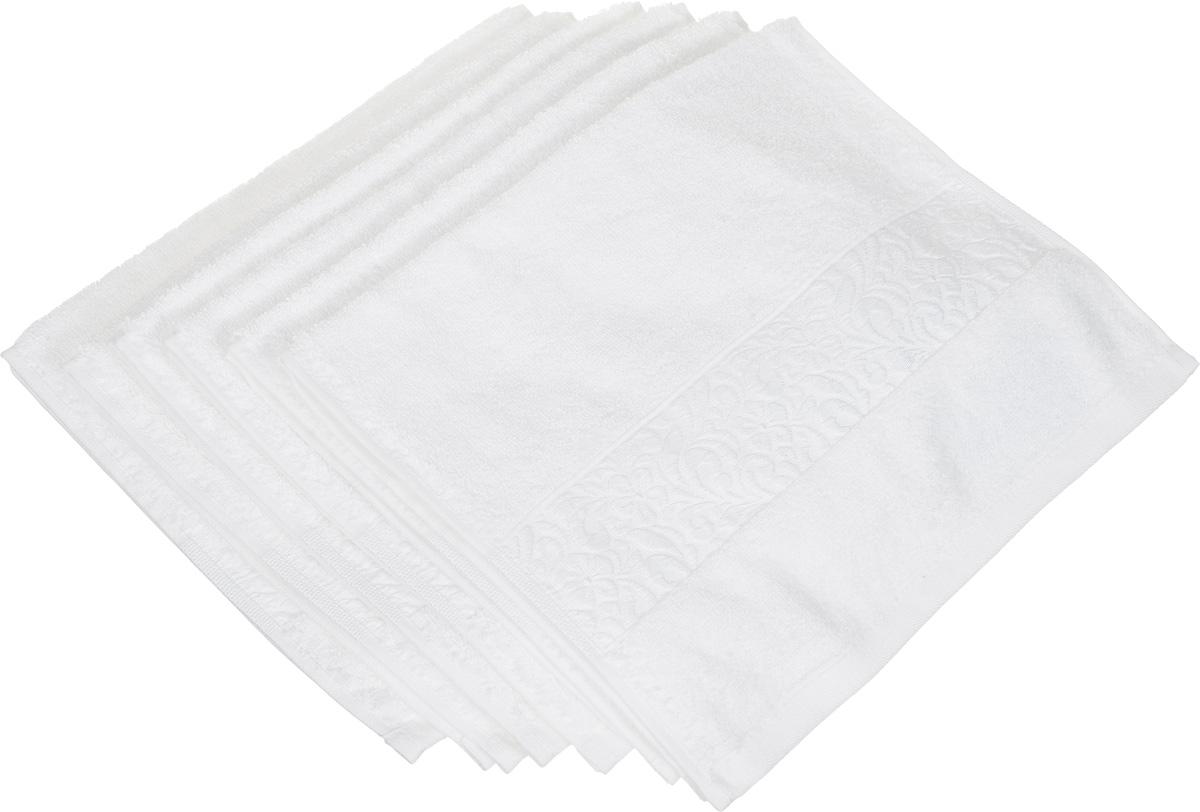 Набор полотенец Issimo Home Valencia, цвет: белый, 30 х 50 см, 6 шт00000004884Набор Issimo Home Valencia состоит из 6 полотенец, выполненных из 60% бамбукового волокна и 40% хлопка. Такими полотенцами не нужно вытираться - только коснитесь кожи - и ткань сама все впитает. Такая ткань впитывает в 3 раза лучше, чем хлопок. Набор из маленьких полотенец-салфеток очень практичен - он станет незаменимым в дороге и в путешествиях. Кроме того, это хороший, красивый и изысканный подарок. Несмотря на богатую плотность и высокую петлю полотенец, они быстро сохнут, остаются легкими даже при намокании.
