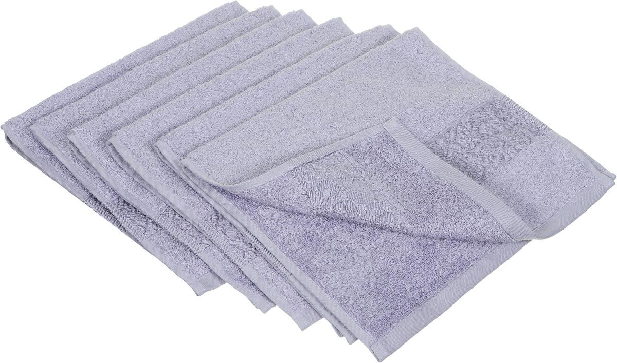 Набор полотенец Issimo Home Valencia, цвет: светло-лавандовый, 30 х 50 см, 6 шт00000004868Набор Issimo Home Valencia состоит из 6 полотенец, выполненных из 60% бамбукового волокна и 40% хлопка. Такими полотенцами не нужно вытираться - только коснитесь кожи - и ткань сама все впитает. Такая ткань впитывает в 3 раза лучше, чем хлопок. Набор из маленьких полотенец-салфеток очень практичен - он станет незаменимым в дороге и в путешествиях. Кроме того, это хороший, красивый и изысканный подарок. Несмотря на богатую плотность и высокую петлю полотенец, они быстро сохнут, остаются легкими даже при намокании.
