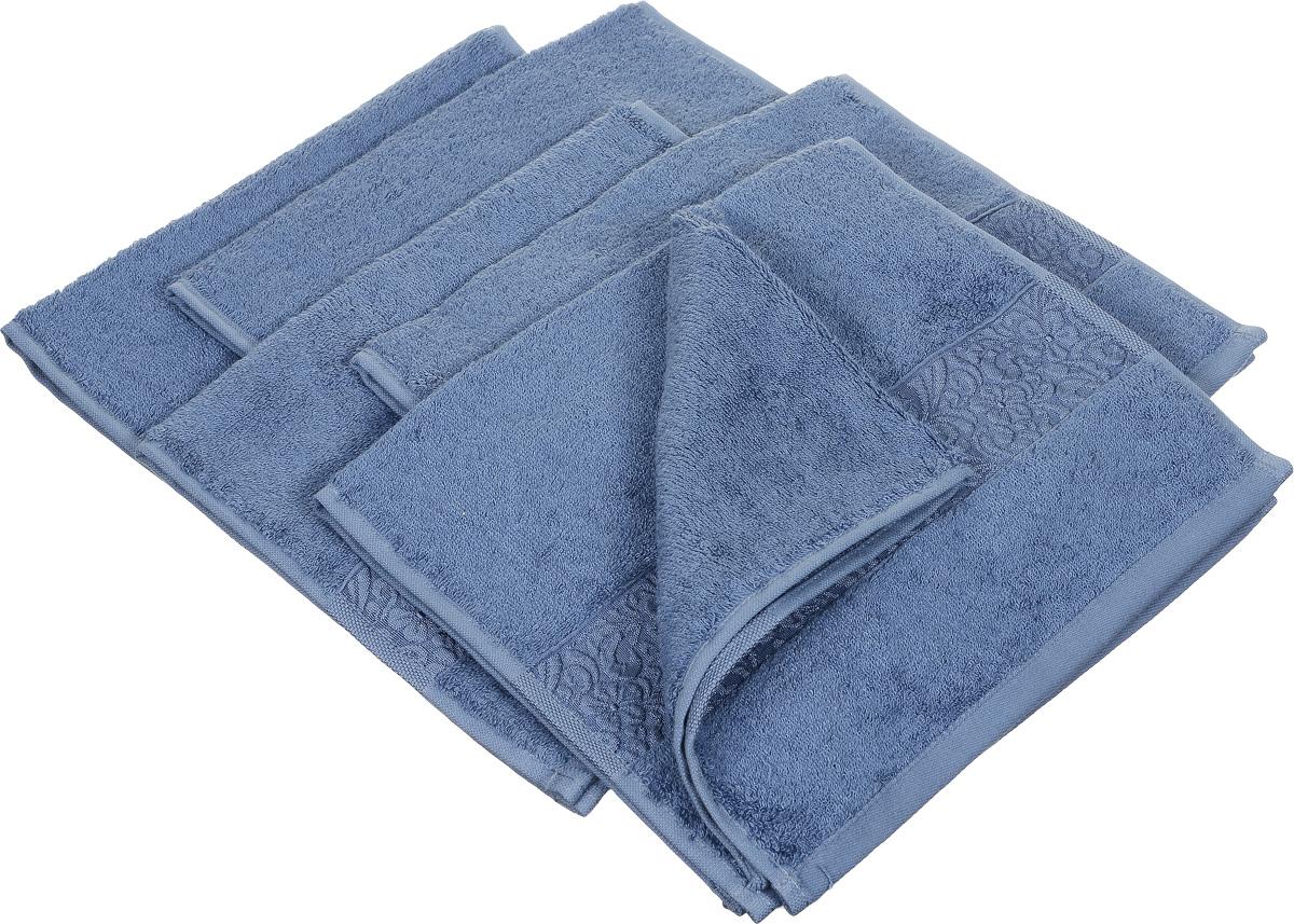 Набор полотенец Issimo Home Valencia, цвет: индиго, 30 х 50 см, 6 шт00000004892Набор Issimo Home Valencia состоит из 6 полотенец, выполненных из 60% бамбукового волокна и 40% хлопка. Такими полотенцами не нужно вытираться - только коснитесь кожи - и ткань сама все впитает. Такая ткань впитывает в 3 раза лучше, чем хлопок. Набор из маленьких полотенец-салфеток очень практичен - он станет незаменимым в дороге и в путешествиях. Кроме того, это хороший, красивый и изысканный подарок. Несмотря на богатую плотность и высокую петлю полотенец, они быстро сохнут, остаются легкими даже при намокании.
