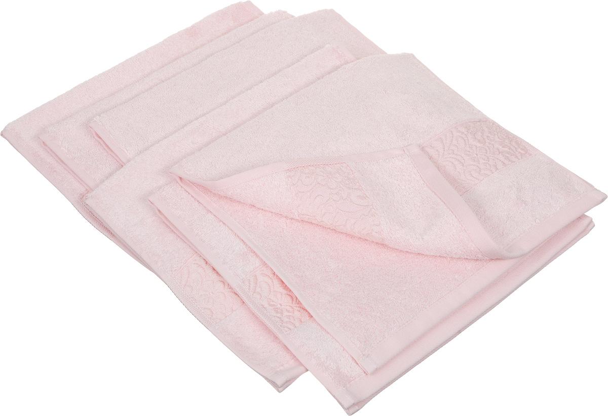 Набор полотенец Issimo Home Valencia, цвет: розовый, 30 х 50 см, 6 шт00000004836Набор Issimo Home Valencia состоит из 6 полотенец, выполненных из 60% бамбукового волокна и 40% хлопка. Такими полотенцами не нужно вытираться - только коснитесь кожи - и ткань сама все впитает. Такая ткань впитывает в 3 раза лучше, чем хлопок. Набор из маленьких полотенец-салфеток очень практичен - он станет незаменимым в дороге и в путешествиях. Кроме того, это хороший, красивый и изысканный подарок. Несмотря на богатую плотность и высокую петлю полотенец, они быстро сохнут, остаются легкими даже при намокании.