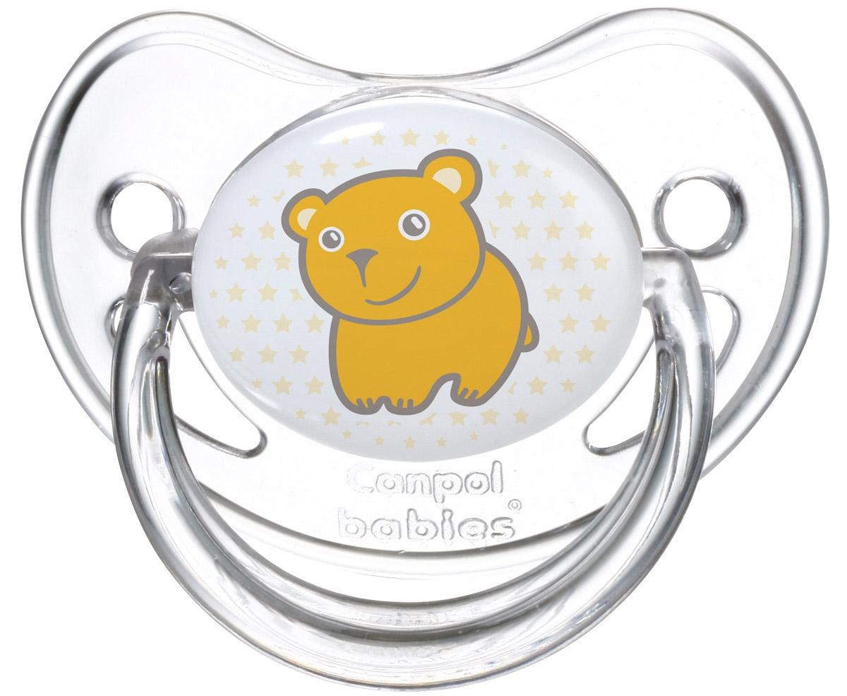 Canpol Babies Пустышка силиконовая ортодонтическая Мишка от 6 до 18 месяцев