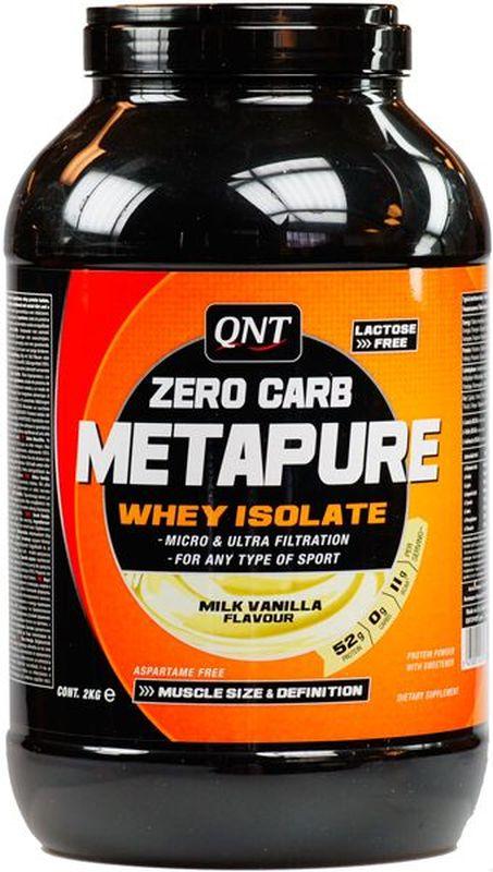 QNT Изолят Metapure, банан, 2 кгQNT1110Metapure Zero Carb изготовлен из изолята сывороточного протеина, самой чистой формы протеина существующей на рынке. Изолят состоит из простых аминокислот и из большого количества аминокислот с разветвленными боковыми цепями (ВСАА). Они являются наиболее важными для восстановления и роста мышц.