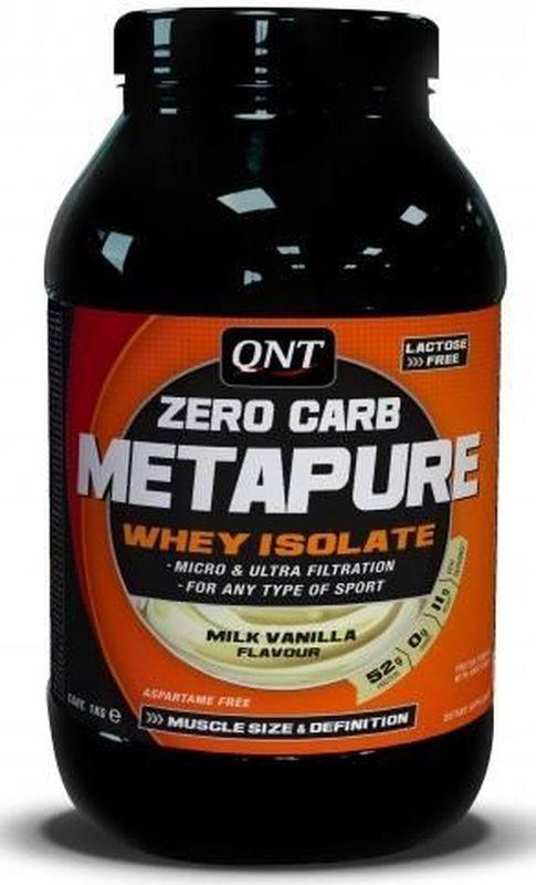 QNT Изолят Metapure, шоколад, 1 кгQNT1111Metapure Zero Carb изготовлен из изолята сывороточного протеина, самой чистой формы протеина существующей на рынке. Изолят состоит из простых аминокислот и из большого количества аминокислот с разветвленными боковыми цепями (ВСАА). Они являются наиболее важными для восстановления и роста мышц.