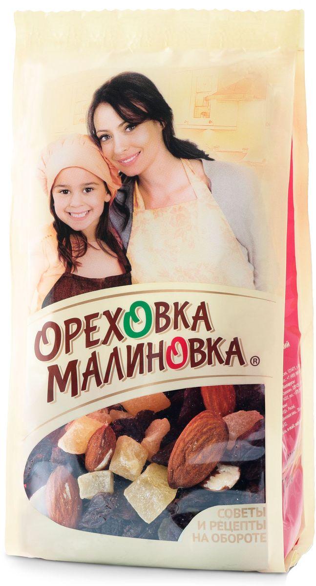 Ореховка-Малиновка смесь ассорти, 190 г4620000679653Смесь из сушеных фруктов и ягод станет любимым ингредиентом в вашей выпечке. Пирог с ананасом, изюмом и папайей украсят банановые чипсы. Семья будет в восторге.
