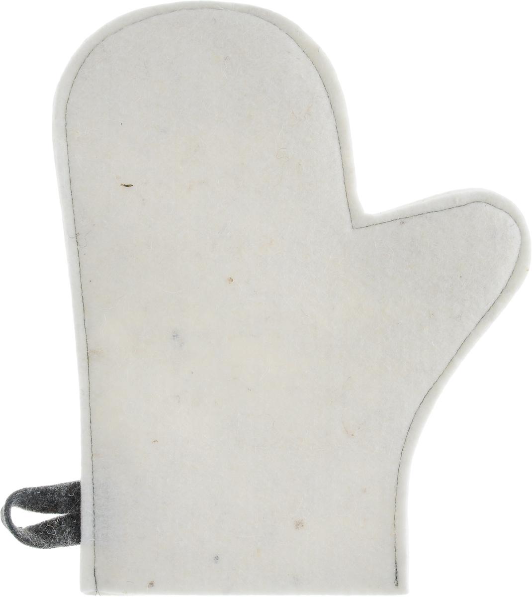 Рукавица для бани и сауны Главбаня, цвет: белыйБ43Рукавица Главбаня, изготовленная из шерсти, - незаменимый банный атрибут. Изделие оснащено петелькой для подвешивания на крючок. Такая рукавица защищает руки от горячего пара, делает комфортным пребывание в парной. Также ею можно прекрасно промассировать тело. Размер рукавицы: 28,5 х 16 см. Материал: шерсть.