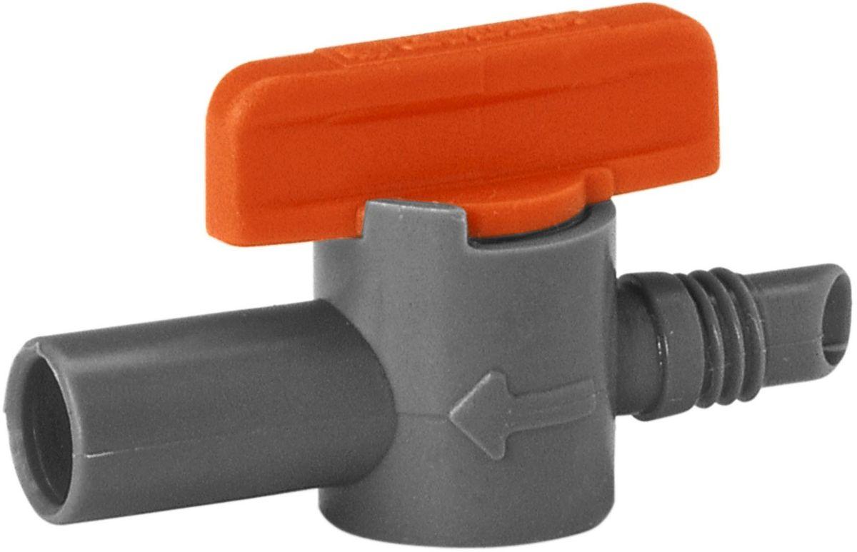 Кран запорный Gardena, 5 шт. 01374-29.000.0001374-29.000.00Кран запорный GARDENA является элементом системы микрокапельного полива GARDENA Micro-Drip-System и предназначен для регулирования расхода воды и дальности полива через микронасадку. Объем подаваемой воды может быть оптимально настроен в соответствии с конкретными садовыми условиями. В комплект поставки входят пять кранов.