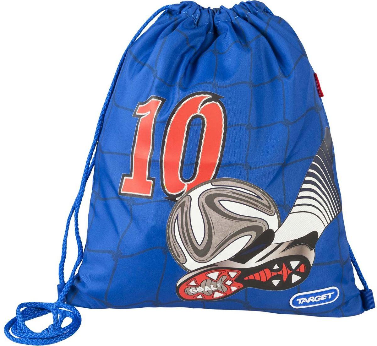 Target Collection Сумка для детской сменной обуви Улетный футбол 1794617946Предназначена для сменной обуви. С помощью длинных шнурков легко затягивается. Изготовлен из прочного непромакаемого материала.