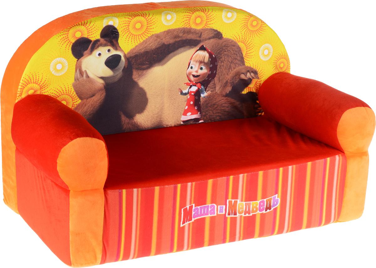 СмолТойс Мягкая игрушка Диван Маша и Медведь цвет оранжевый красный1751/ОРЖОригинальная мягкая игрушка СмолТойс Диван Маша и Медведь послужит забавным украшением детской комнаты и диванчиком для малышей. Диван выполнен из плотного поролона с мягким плюшевым покрытием. Спинка дивана украшена принтом с изображением Маши и Медведя из одноименного мультфильма. Диван не имеет твердых элементов и полностью безопасен для малыша. Милый мягкий диванчик с изображением любимых героев выполнен в яркой сочной расцветке, он непременно понравится ребенку и станет оригинальным и практичным подарком.
