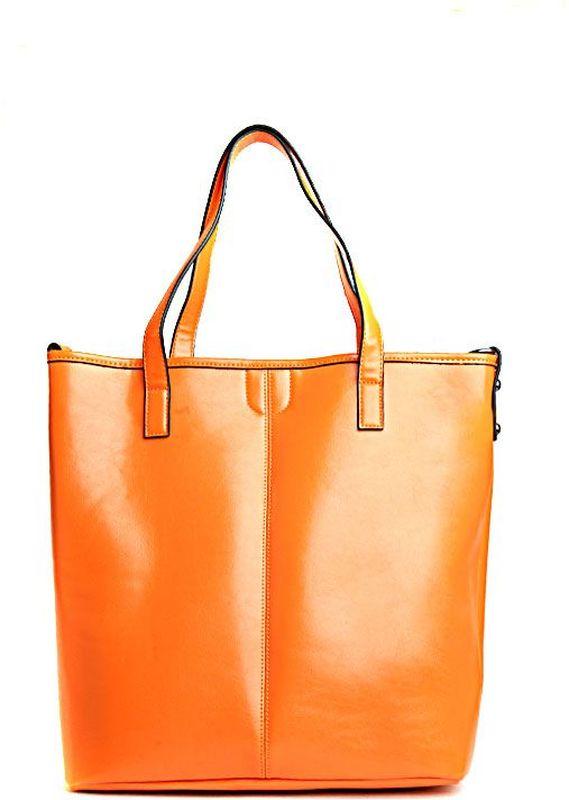 Сумка женская Milana, цвет: рыжий. 152648-1-126152648-1-126Стильная женская сумка Milana изготовлена из искусственной кожи. Внутренняя подкладка выполнена из искусственного шелка. Сумка закрывается на магнитную застежку. Внутри имеется одно основное отделение, которое дополнено накладным карманом, внутренним закрепленным клатчем, а также карманом на молнии и двумя открытыми без застежек. Модель оснащена длинными ручками на запястье и удобным плечевым ремешком. Оригинальный аксессуар позволит вам завершить образ и быть неотразимой.