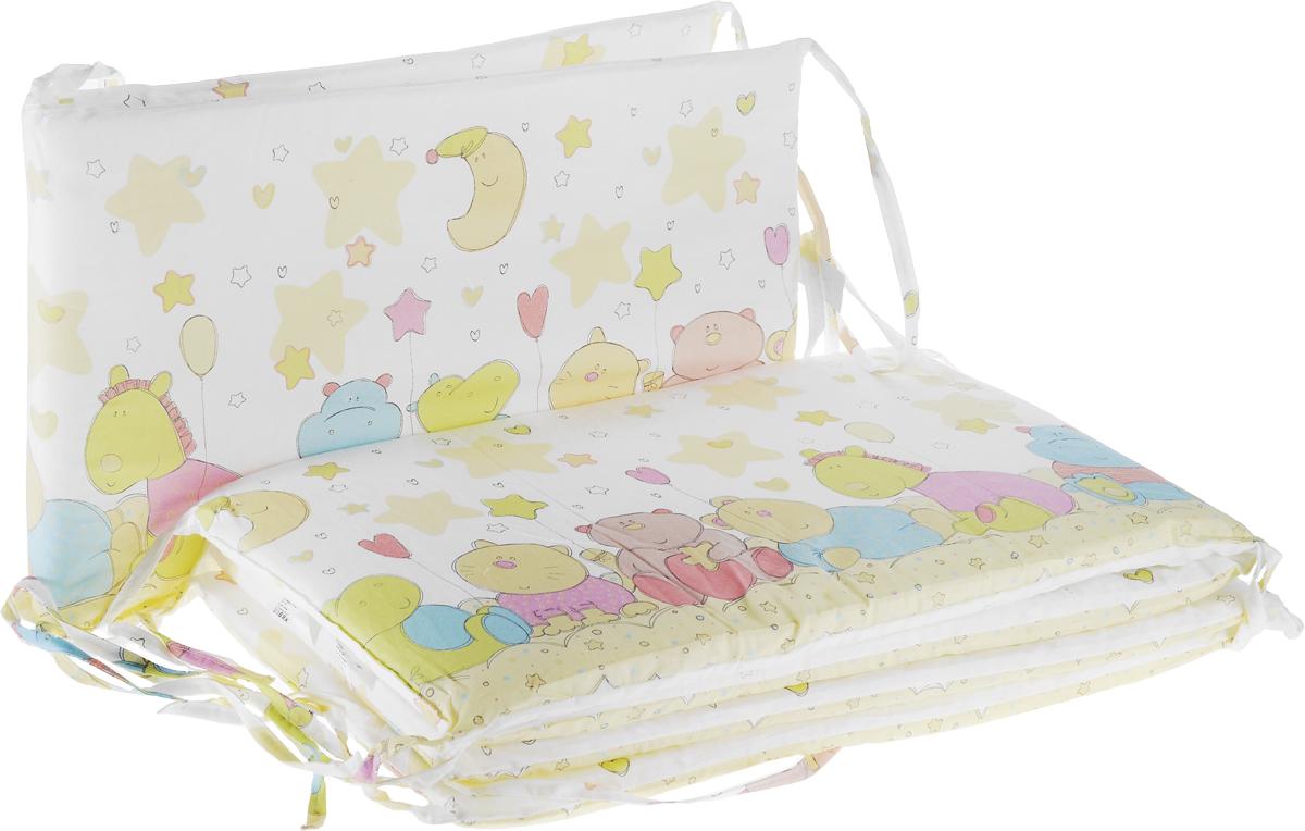 Baby Nice Бампер в кроватку Звездопад цвет желтый B79067_желтый/звездопад