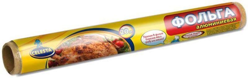 Фольга алюминиевая пищевая Celesta, 20 м318Фольга алюминиевая предназначена для запекания мяса, рыбы, прицы,овощей в духовом шкафу и на гриле. Используется для хранения и упаковки пищи, превосходно сохраняет продукты в свежем виде.