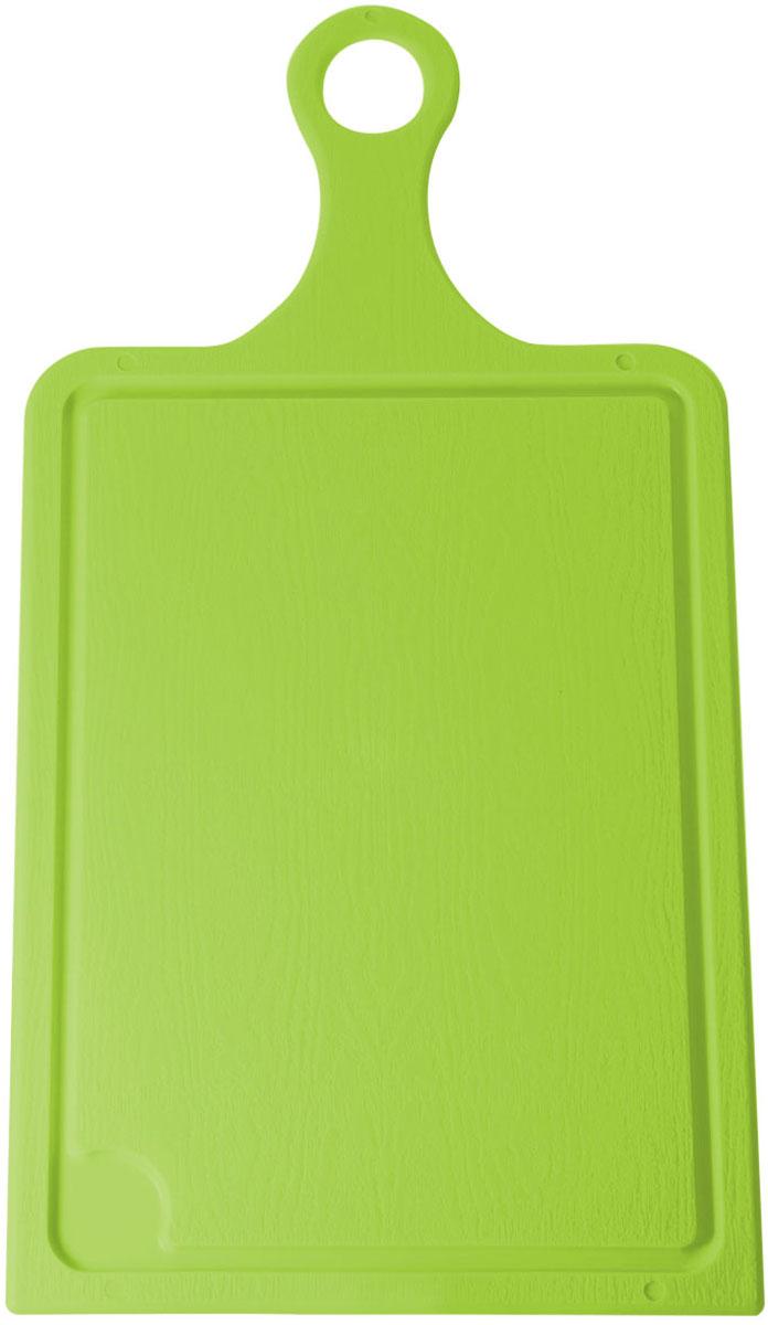 Доска разделочная Plastic Centre, цвет: светло-зеленый, 43 х 22 см94672Разделочная доска может применяться для различных видов продуктов. Каждая доска снабжена желобком для стока жидкости для удобства применения. Доска не впитывает запахи, устойчива к воздействию ножом, благодаря чему изделие более долговечно. На кухне рекомендовано иметь несколько досок для различных видов продуктов: мяса, рыбы, хлеба и овощей.
