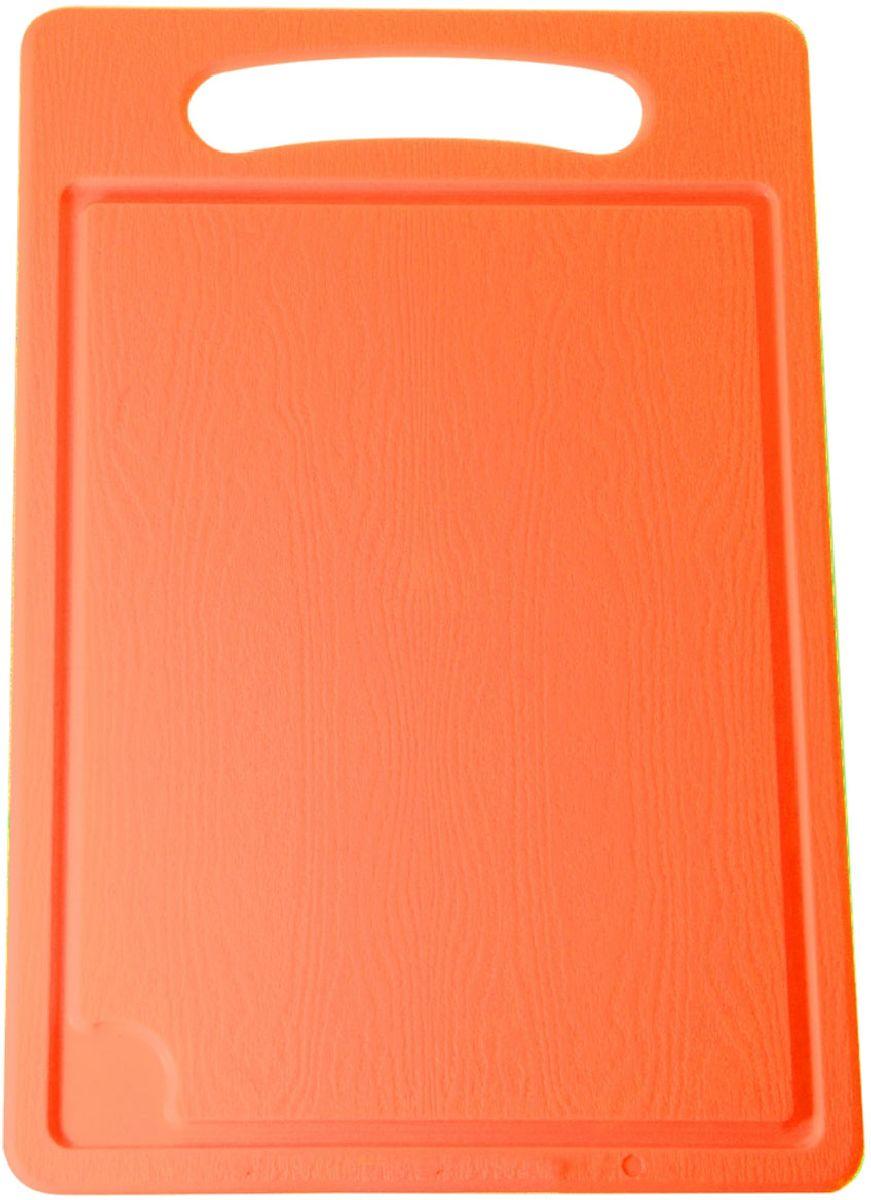 Доска разделочная Plastic Centre, цвет: оранжевый, 36 х 24 смПЦ1494МНДРазделочная доска может применяться для различных видов продуктов. Каждая доска снабжена желобком для стока жидкости для удобства применения. Доска не впитывает запахи, устойчива к воздействию ножом, благодаря чему изделие более долговечно. На кухне рекомендовано иметь несколько досок для различных видов продуктов: мяса, рыбы, хлеба и овощей.