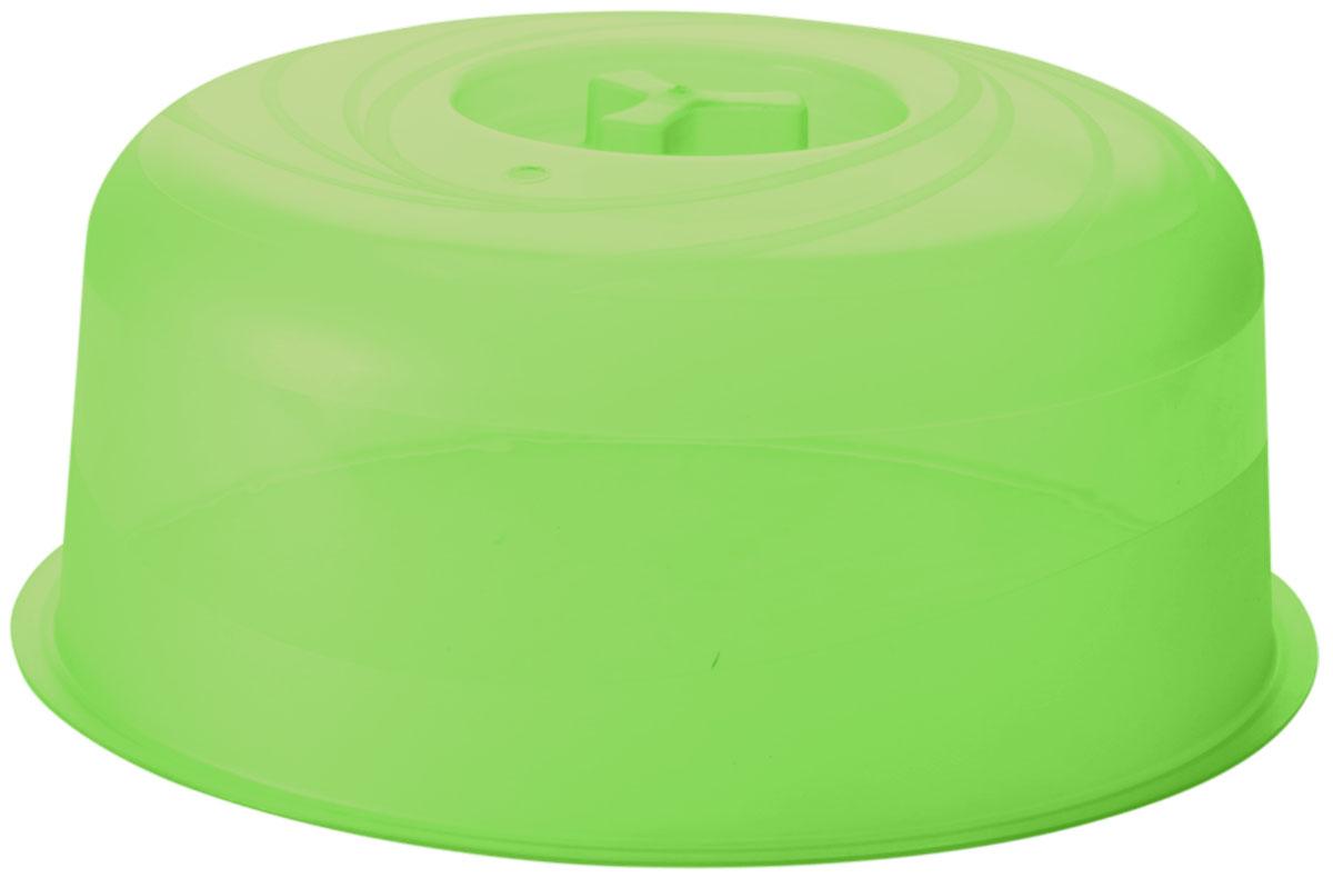 Крышка для СВЧ Plastic Centre Galaxy, цвет: зеленый, прозрачный, диаметр 22 смПЦ2230ЗЛПРКрышка для СВЧ ? необходимая вещь в каждом хозяйстве. Наша крышка для СВЧ с отверстием для выпуска пара предохраняет внутреннюю поверхность микроволновой печи от брызг во время разогрева пищи. Изготовлена из высококачественного пищевого пластика.