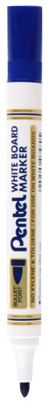 Pentel Маркер для досок цвет синийFS-36054Маркер для досок Pentel синего цвета станет вашим верным помощником при проведении презентаций или семинаров.Маркер выполнен из пластика и предназначен для письма на доске. Корпус маркера белого цвета, а цвет колпачка соответствует цвету чернил. Маркер обеспечивает ровные и четкие линии, диаметр стержня 4,2 мм. Квадратный колпачок не позволит ему скатиться со стола, и он всегда будет у вас под рукой. Маркер имеет увеличенную длительность письма.