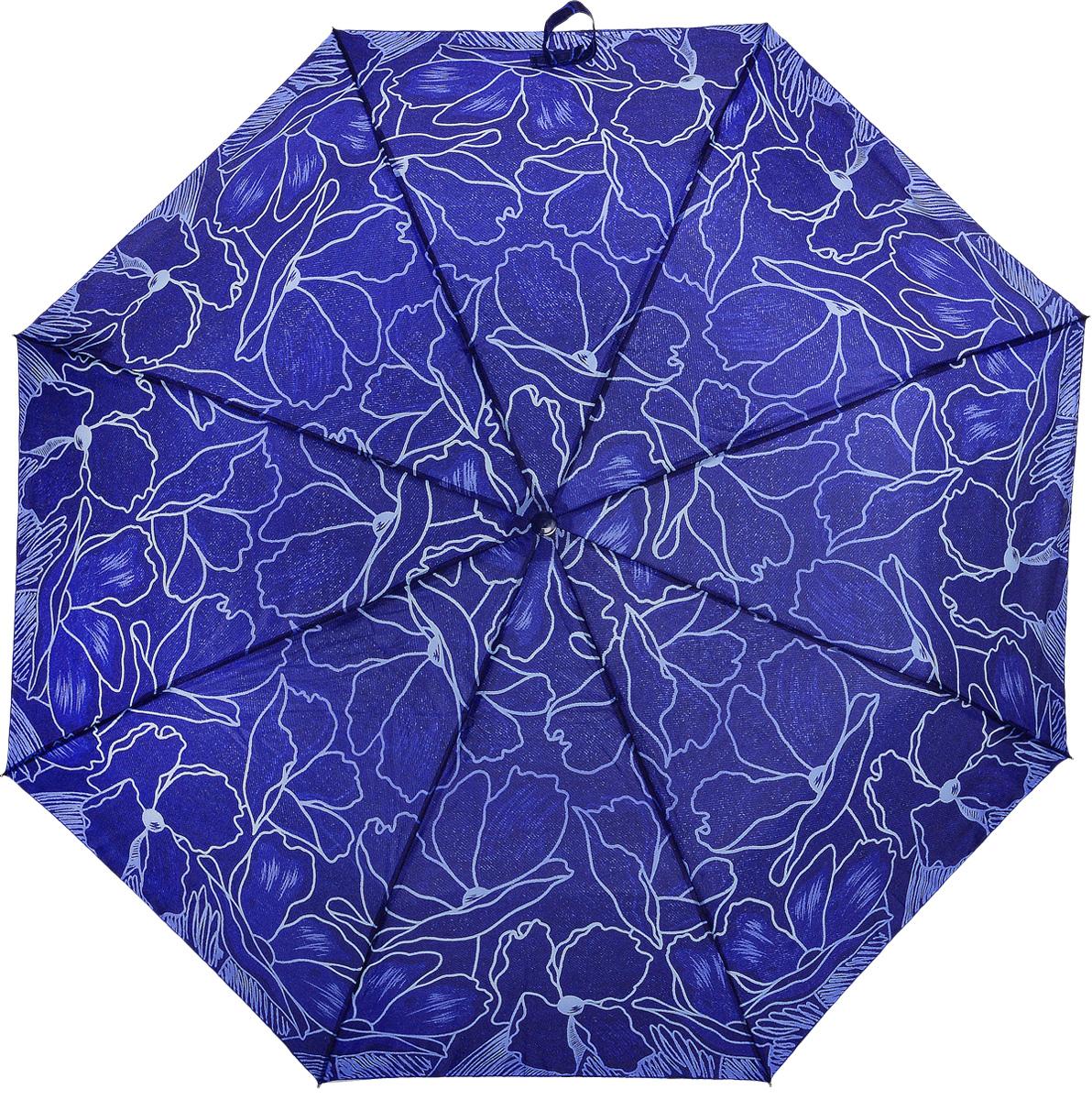 Зонт женский Prize, механический, 3 сложения, цвет: синий, голубой. 355-4173.7-12 navyКлассический женский зонт в 3 сложения с механической системой открытия и закрытия. Удобная ручка выполнена из пластика. Модель зонта выполнена в стандартном размере. Данная модель пердставляет собой эконом класс.