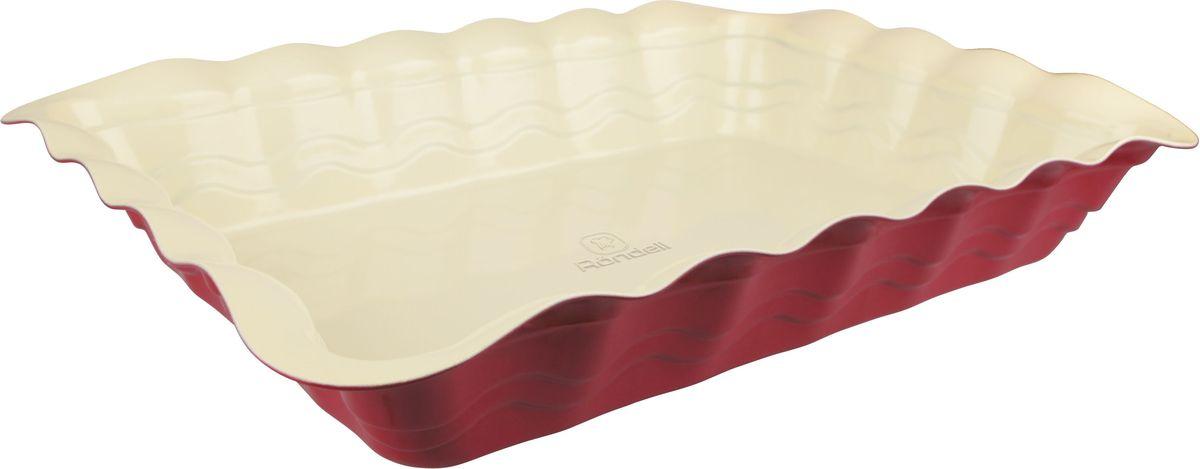 Форма для запекания Rondell Wavy, прямоугольная, 39х29 смRDF-437Форма для запекания RONDELL прямоугольная 39х29 см Wavy