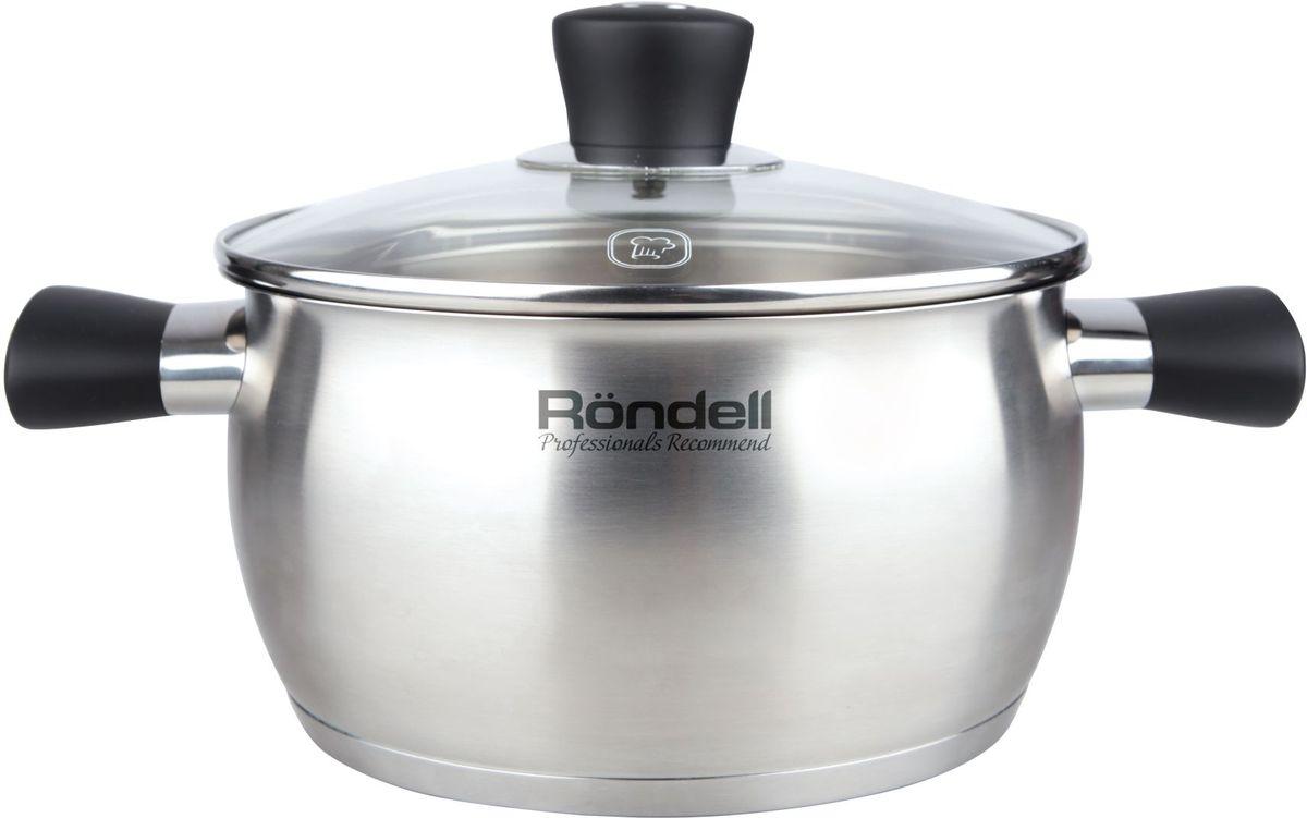 Кастрюля Rondell Dominant, с крышкой, 5,7 лRDS-833Кастрюля с крышкой 24 см (5,7 л) Dominant (ST)