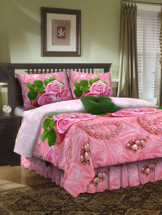 Комплект белья ROKO, 2-спальный, наволочки 70х70, цвет: розовый204Комплект белья ROKO состоит из простыни, пододеяльника и 2 наволочек. Для производства постельного белья используются экологичные ткани высочайшего качества. Бязь - хлопчатобумажная плотная ткань полотняного переплетения. Отличается прочностью и стойкостью к многочисленным стиркам. Бязь считается одной из наиболее подходящих тканей, для производства постельного белья и пользуется в России большим спросом.