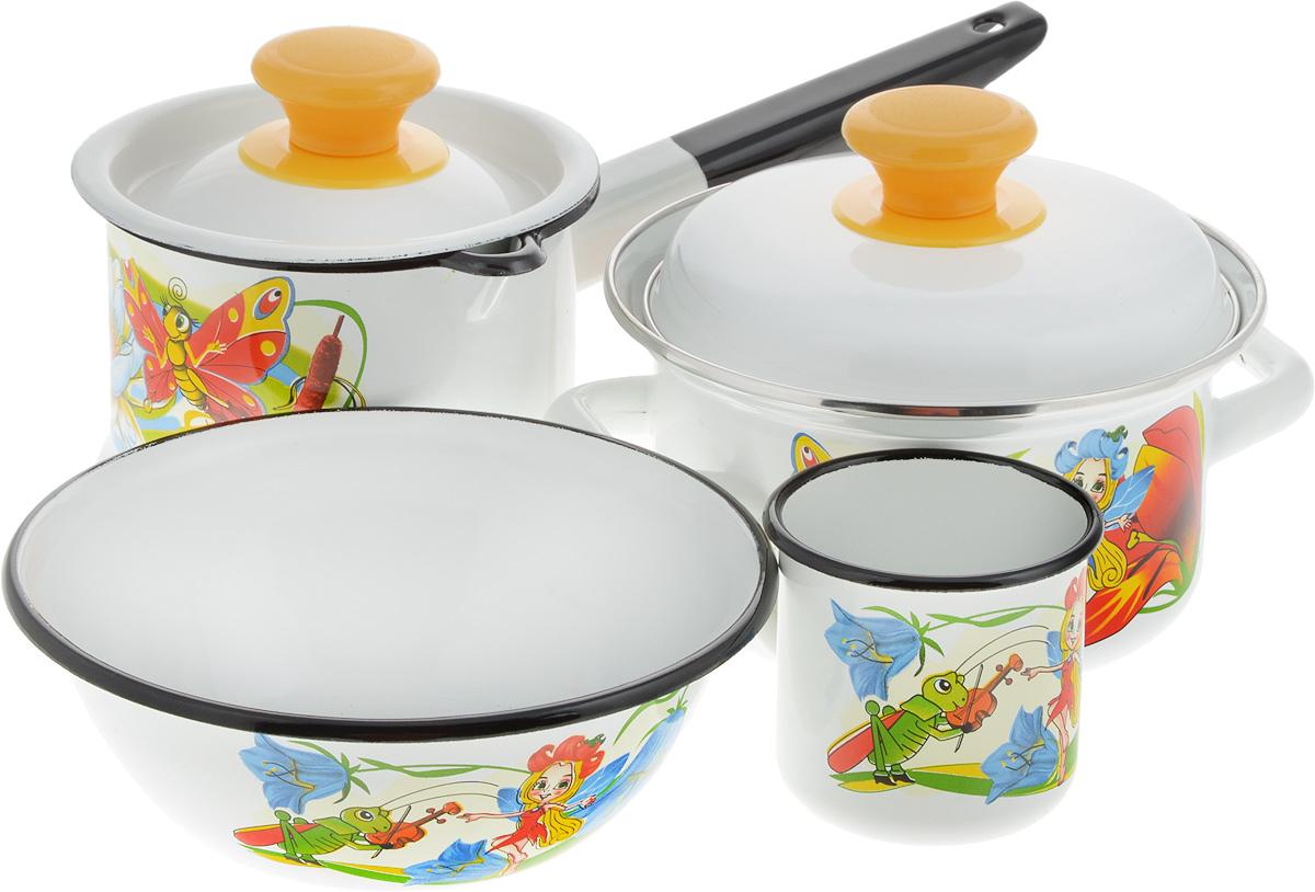 Набор посуды КМК Кокетка, 6 предметов ведро эмалированное кмк с крышкой с поддоном 10 л