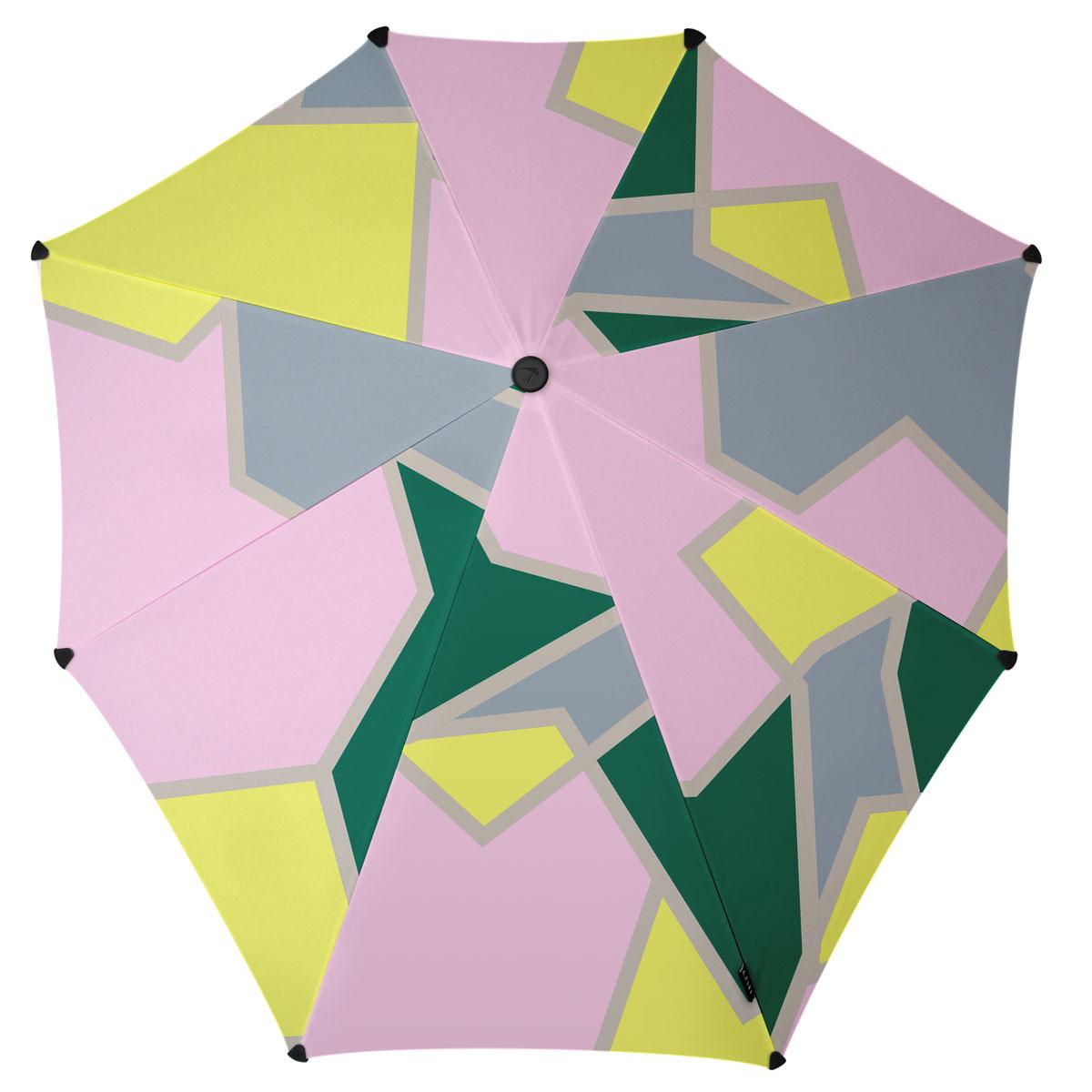 Зонт-трость Senz, цвет: серый, розовый, салатовый. 201107845100948B/32793/5900NИнновационный противоштормовый зонт, выдерживающий любую непогоду. Входит в коллекцию global playground, разработанную в соответствии с современными течениями fashion-индустрии. Вдохновением для дизайнеров стали улицы городов по всему земному шару. На новых принтах вы встретите уникальный микс всего, что мы открываем для себя во время путешествий: разнообразие оттенков, цветов, теней, линий и форм. Зонт Senz отлично дополнит образ, подчеркнет индивидуальность и вкус своего обладателя.Форма купола продумана так, что вы легко найдете самое удобное положение на ветру – без паники и без борьбы со стихией. Закрывает спину от дождя. Благодаря своей усовершенствованной конструкции, зонт не выворачивается наизнанку даже при сильном ветре. Модель Senz Original выдержала испытания в аэротрубе со скоростью ветра 100 км/ч. Характеристики:- тип — трость- выдерживает порывы ветра до 100 км/ч- УФ-защита 50+- удобная мягкая ручка- безопасные колпачки на кончиках спицах- в комплекте прочный чехол из плотной ткани с лямкой на плечо - гарантия 2 года