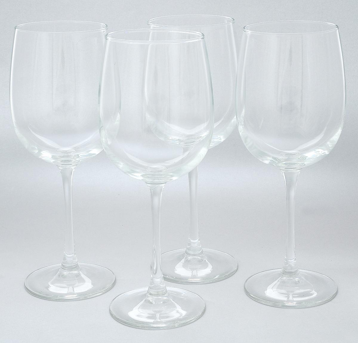 Набор бокалов для вина Luminarc Аллегресс, 550 мл, 4 штL1403Набор Luminarc Аллегресс состоит из четырех бокалов, выполненных из прочного натрий-кальций-силикатного стекла. Изделия оснащены высокими ножками и предназначены для подачи вина. Они сочетают в себе элегантный дизайн и функциональность. Набор бокалов Luminarc Аллегресс прекрасно оформит праздничный стол и создаст приятную атмосферу за романтическим ужином. Такой набор также станет хорошим подарком к любому случаю. Диаметр бокала (по верхнему краю): 7,5 см. Высота бокала: 23 см.