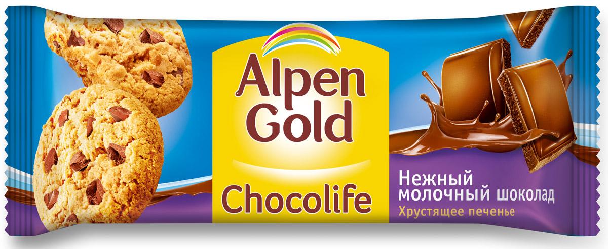 Alpen Gold Chocolife печенье с молочным шоколадом, 135 г 652944, 323396
