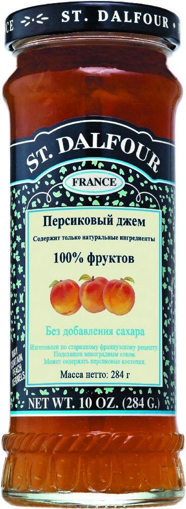 St.Dalfour Джем Персик, 284 г207002Без сахара. Изготовлен по старинным французским рецептам. Не содержит консервантов, искусственных ароматизаторов и красителей. Содержит только натуральные ингредиенты.
