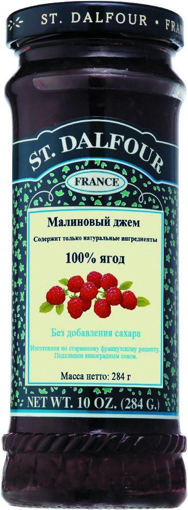 St.Dalfour Джем Малина, 284 г207008Без сахара. Изготовлен по старинным французским рецептам. Не содержит консервантов, искусственных ароматизаторов и красителей. Содержит только натуральные ингредиенты.