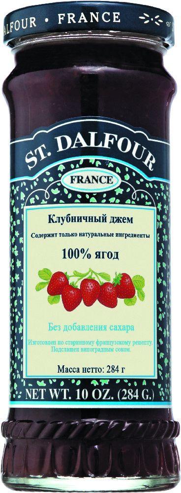 St.Dalfour Джем Клубника, 284 г0120710Без сахара. Изготовлен по старинным французским рецептам. Не содержит консервантов, искусственных ароматизаторов и красителей. Содержит только натуральные ингредиенты.