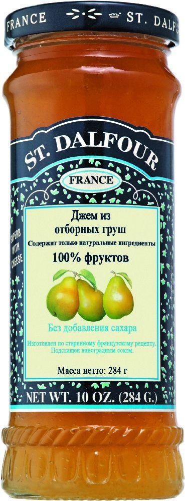 St.Dalfour Джем Отборная груша, 284 г0120710Без сахара. Изготовлен по старинным французским рецептам. Не содержит консервантов, искусственных ароматизаторов и красителей. Содержит только натуральные ингредиенты.