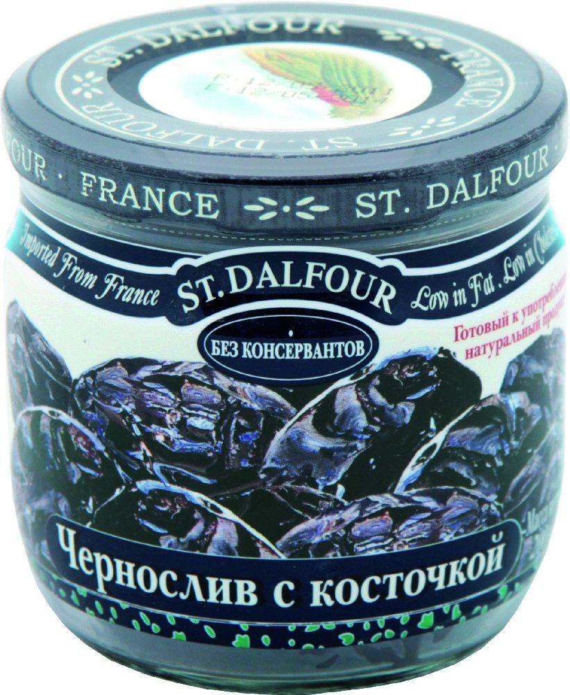 St.Dalfour Чернослив с косточкой, 200 г0120710Гигантский французский чернослив изготовлен без консервантов. Оптимальный технологический процесс позволяет сохранить нежность и сочность чернослива. Он не пересушенный и не жесткий.
