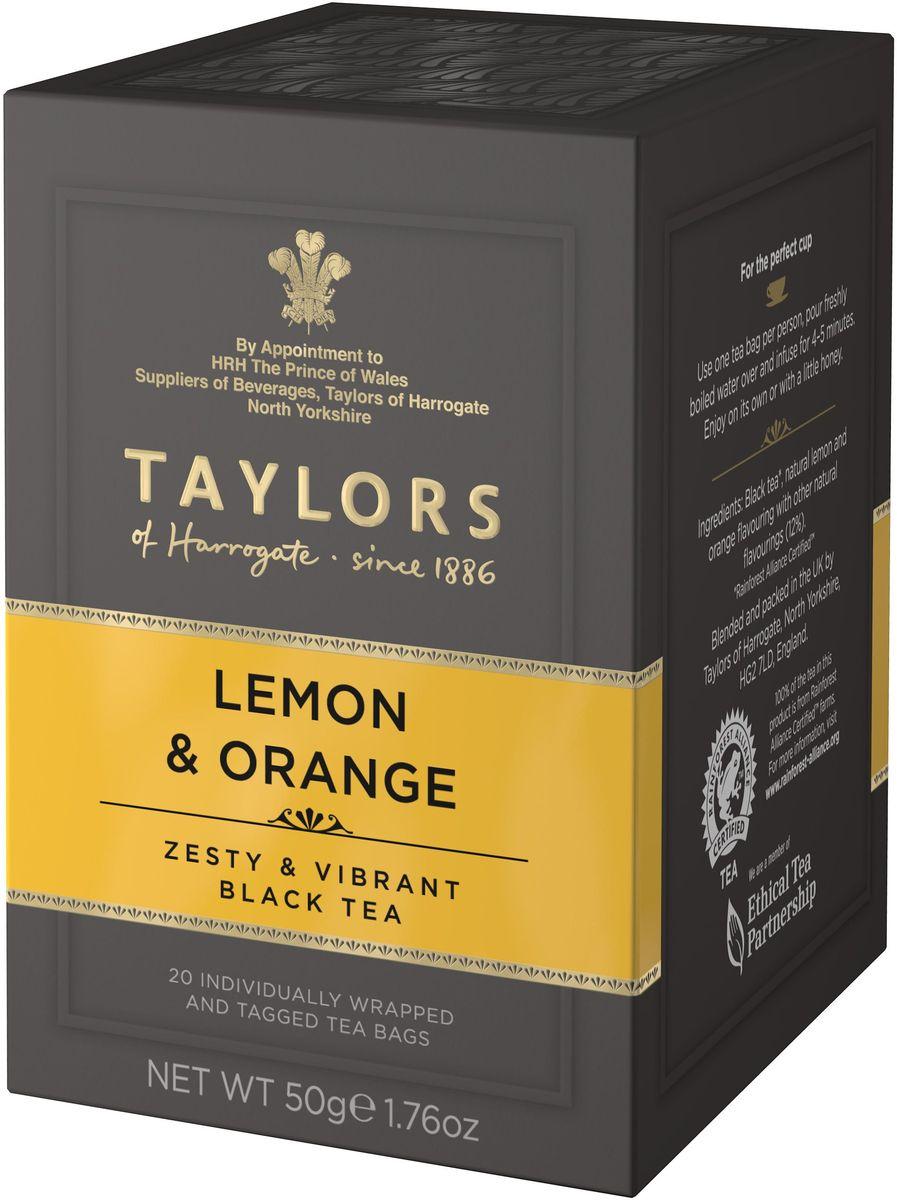 Taylors of Harrogate чай черный байховый с ароматом лимона и апельсина в пакетиках, 20 шт 292406