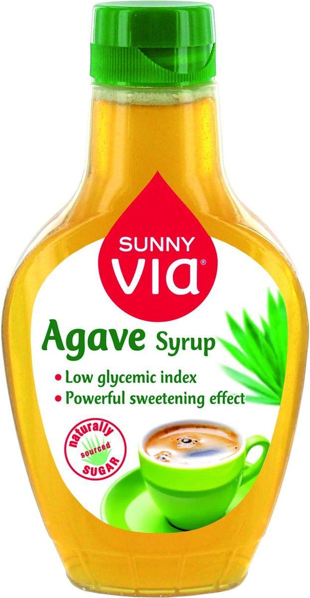 Sunny Via Сироп Агавы с диспенсером, 350 г430138Сироп Агавы - натуральный продукт с уникальным слегка карамельным сладким вкусом. Фруктоза является главным ингредиентом Сиропа Агавы, она усваивается организмом медленнее и, таким образом не вызывает резкого увеличения уровня сахара в крови. Благодаря этому Сироп Агавы относится к продуктам с низким Гликемическим индексом. (Гликемический индекс Сиропа Агавы ниже в 5 раз по сравнению с Гликемическим индексом традиционного сахара). Жидкая текстура позволит потребителю добавлять его в горячие напитки (кофе, чай, какао), фруктовые десерты, йогурты и другие блюда.