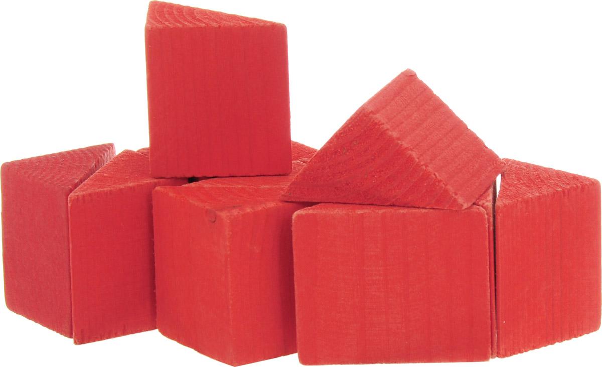 Развивающие деревянные игрушки Конструктор Треугольники цвет красный