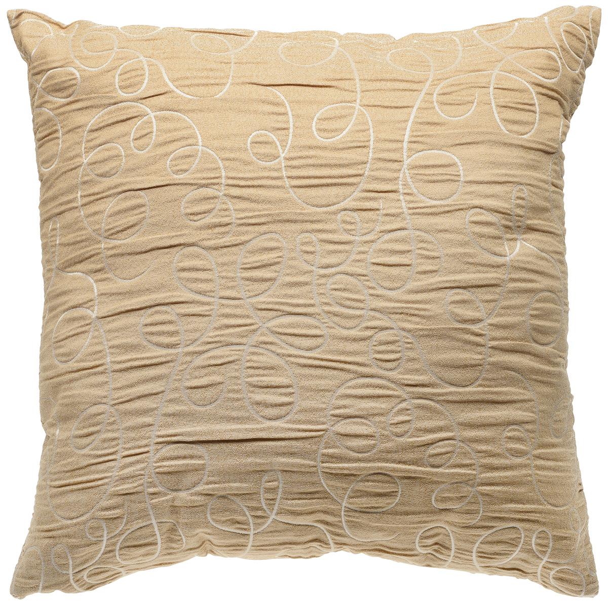 Подушка декоративная KauffOrt Минор, цвет: золотисто-бежевый, 40 x 40 смS03301004Декоративная подушка KauffOrt Минор прекрасно дополнит интерьер спальни или гостиной. Мягкий на ощупь чехол подушки выполнен из 100% полиэстера. Внутри находится мягкий наполнитель, выполненный из холлофайбера. Чехол легко снимается благодаря молнии.Красивая подушка создаст атмосферу уюта и комфорта в спальне и станет прекрасным элементом декора.