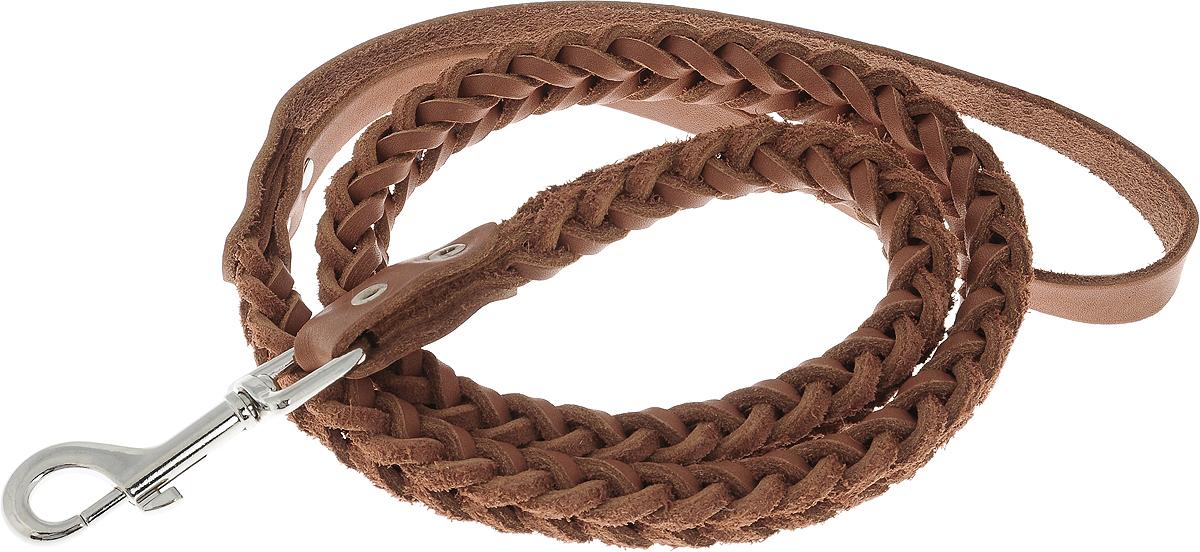 Поводок для собак Каскад Классика, плетеный, цвет: коричневый, ширина 1 см, длина 1 м02010022кПоводок для собак Каскад Классика изготовлен из высококачественной натуральной кожи в виде объемного плетения и снабжен металлическим карабином. Изделие отличается не только исключительной надежностью и удобством, но и привлекательным современным дизайном. Поводок - необходимый аксессуар для собаки. Ведь в опасных ситуациях именно он способен спасти жизнь вашему любимому питомцу. Иногда нужно ограничивать свободу своего четвероногого друга, чтобы защитить его или себя от неприятностей на прогулке. Длина поводка: 1 м. Ширина поводка: 1 см.