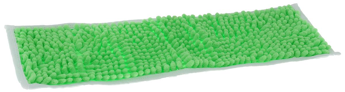 Насадка для швабры Коллекция, цвет: салатовый, 43 х 13 смХ5ТРШ_салатовыйНасадка для швабры Коллекция, изготовленная из 100% полиэстера, предназначена для влажной и сухой уборки напольных покрытий: паркет, линолеум, кафель и так далее. Обладает большой впитывающей способностью. Не оставляет разводов и ворсинок, прекрасно собирает пыль и удаляет загрязнения. Легко споласкивается водой, не требует дополнительного ухода. Размер насадки: 43 х 13 см. Высота ворса: 1,5 см.