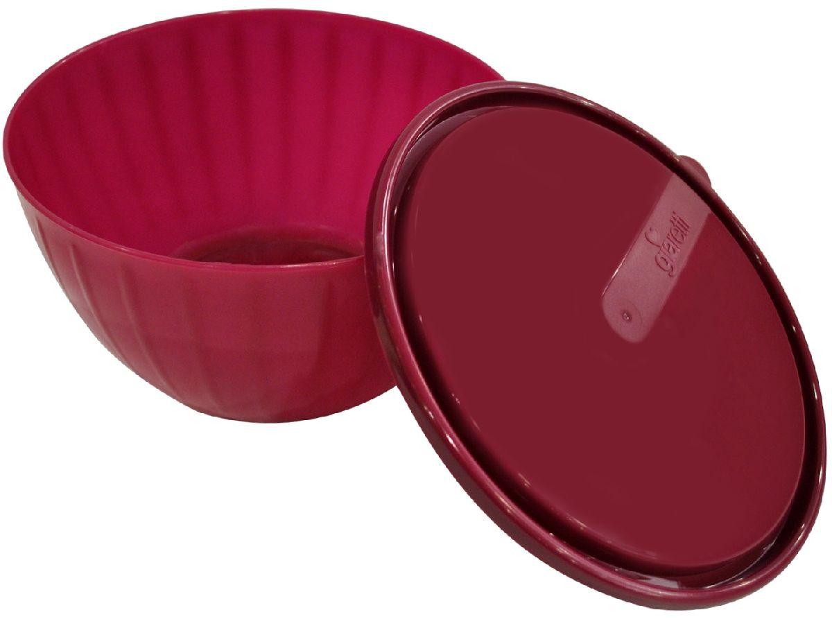 Салатник Giaretti Fiesta, с крышкой, цвет: ягодный, 1,7 л115510Пластиковый салатник Giaretti Fiesta предназначен не только для подачи, но и для хранения салатов. Удобная крышка помогает сохранять свежесть продуктов, а сам салатник достаточно легок для транспортировки! Он создан из абсолютно безопасных пищевых материалов, так что вы можете не волноваться о сохранении качества продуктов.