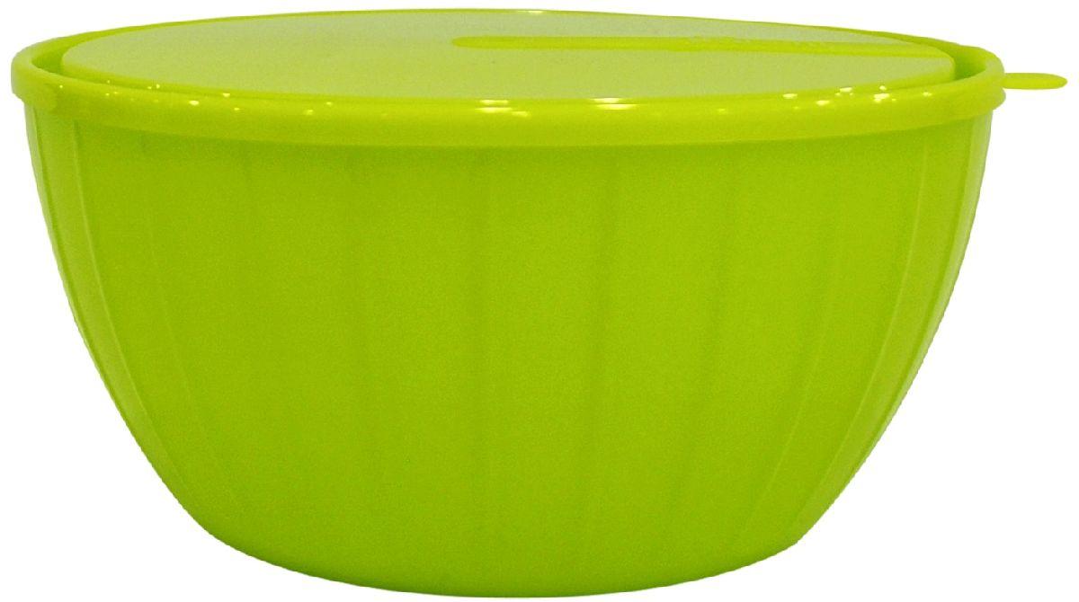 Салатник Giaretti Fiesta, с крышкой, цвет: оливковый, 5 лGR1868ОЛПластиковый салатник предназначен не только для подачи, но и для хранения салатов. Удобная крышка помогает сохранять свежесть продуктов, а сам салатник достаточно легок для транспортировки! Он создан из абсолютно безопасных пищевых материалов, так что вы можете не волноваться о сохранении качества продуктов. Для большего удобства советуем приобретать салатники Fiesta объемом 1,7 литра и 2,8 литра.