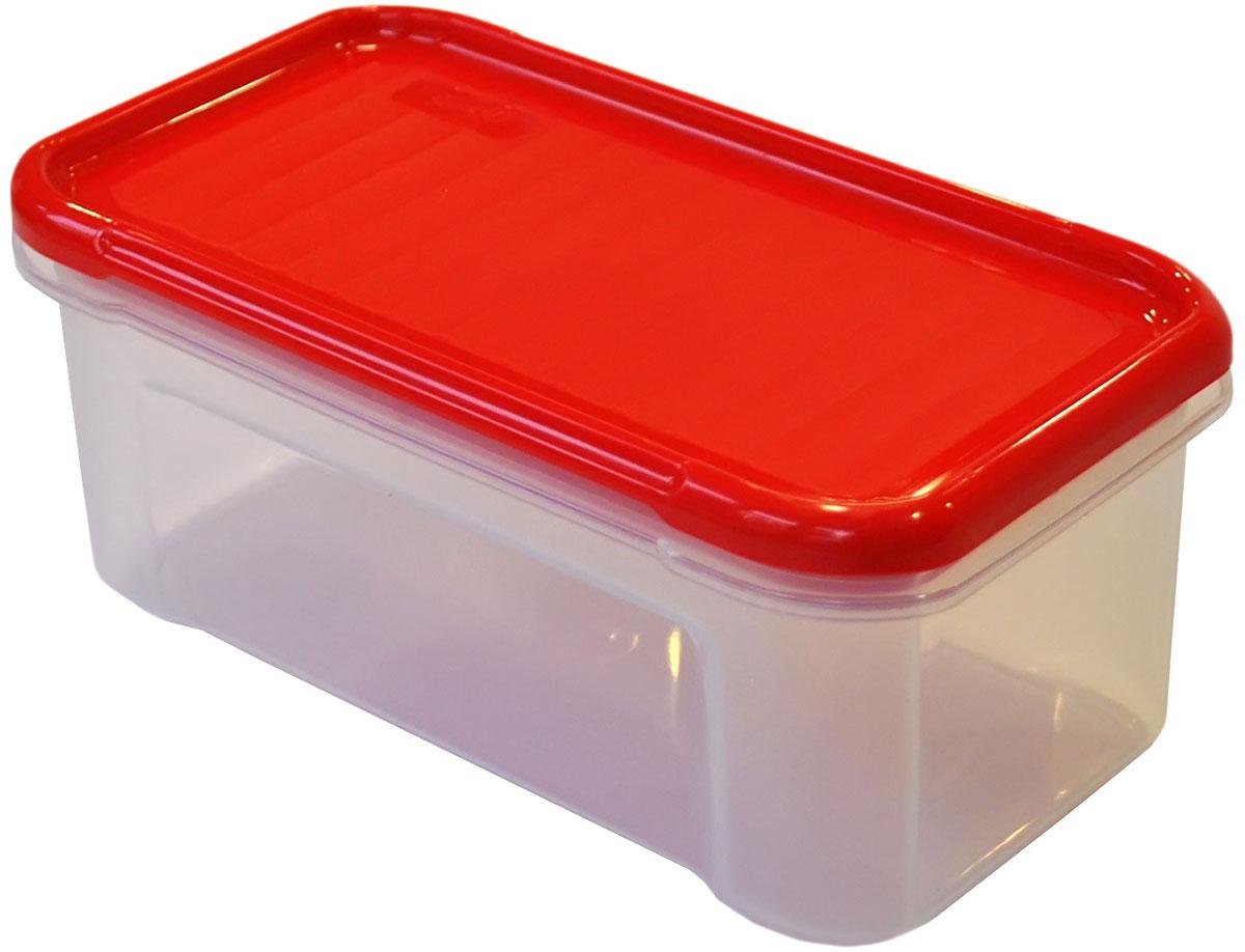 Банка для сыпучих продуктов Giaretti Krupa, цвет: красный, прозрачный, 0,5 лVT-1520(SR)Банки для сыпучих продуктов предназначены для хранения круп, сахара, макаронных изделий, сладостей и т.п., в том числе для продуктов с ярким ароматом (специи и пр.). Строгая прямоугольная форма банок поможет Вам организовать пространство максимально комфортно, не теряя полезную площадь. При этом банки устанавливаются одна на другую, что способствует экономии пространства в Вашем шкафу. Плотная крышка не пропускает запахи, и они не смешиваются в Вашем шкафу. Благодаря разнообразным отверстиям в дозаторе, Вам будет удобно насыпать как мелкие, так и крупные сыпучие продукты, что сделает процесс приготовления пищи проще.