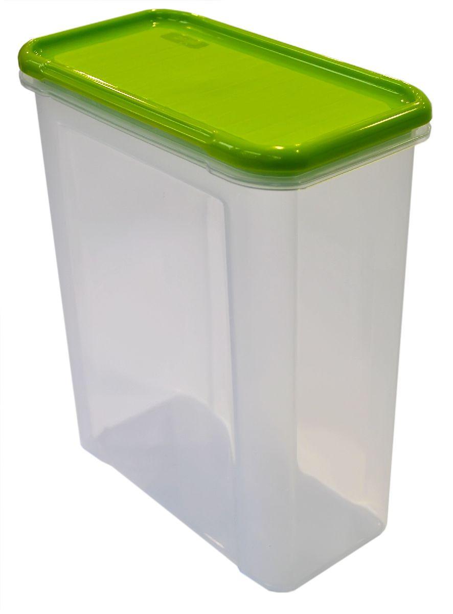 Банка для сыпучих продуктов Giaretti Krupa, цвет: оливковый, прозрачный, 1,5 лGR2233ОЛБанки для сыпучих продуктов предназначены для хранения круп, сахара, макаронных изделий, сладостей и т.п., в том числе для продуктов с ярким ароматом (специи и пр.). Строгая прямоугольная форма банок поможет Вам организовать пространство максимально комфортно, не теряя полезную площадь. При этом банки устанавливаются одна на другую, что способствует экономии пространства в Вашем шкафу. Плотная крышка не пропускает запахи, и они не смешиваются в Вашем шкафу. Благодаря разнообразным отверстиям в дозаторе, Вам будет удобно насыпать как мелкие, так и крупные сыпучие продукты, что сделает процесс приготовления пищи проще.