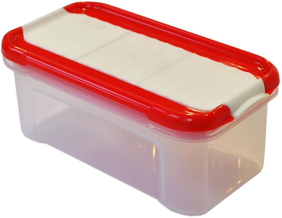 Банка для сыпучих продуктов Giaretti Krupa, с дозатором, цвет: красный, прозрачный, 0,5 лGR2234ЧЕРИБанки для сыпучих продуктов предназначены для хранения круп, сахара, макаронных изделий, сладостей и т.п., в том числе для продуктов с ярким ароматом (специи и пр.). Строгая прямоугольная форма банок поможет Вам организовать пространство максимально комфортно, не теряя полезную площадь. При этом банки устанавливаются одна на другую, что способствует экономии пространства в Вашем шкафу. Плотная крышка не пропускает запахи, и они не смешиваются в Вашем шкафу. Благодаря разнообразным отверстиям в дозаторе, Вам будет удобно насыпать как мелкие, так и крупные сыпучие продукты, что сделает процесс приготовления пищи проще.