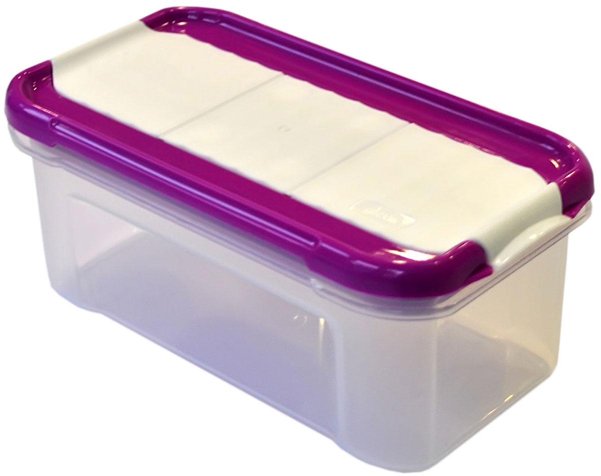 Банка для сыпучих продуктов Giaretti Krupa, с дозатором, цвет: черничный, прозрачный, 0,5 лGR2234ЧРНБанки для сыпучих продуктов предназначены для хранения круп, сахара, макаронных изделий, сладостей и т.п., в том числе для продуктов с ярким ароматом (специи и пр.). Строгая прямоугольная форма банок поможет Вам организовать пространство максимально комфортно, не теряя полезную площадь. При этом банки устанавливаются одна на другую, что способствует экономии пространства в Вашем шкафу. Плотная крышка не пропускает запахи, и они не смешиваются в Вашем шкафу. Благодаря разнообразным отверстиям в дозаторе, Вам будет удобно насыпать как мелкие, так и крупные сыпучие продукты, что сделает процесс приготовления пищи проще.