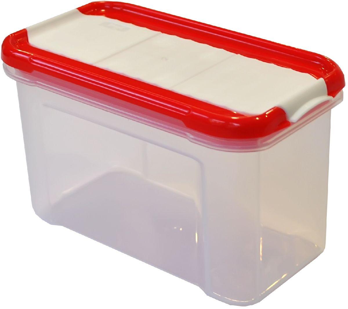 Банка для сыпучих продуктов Giaretti Krupa, с дозатором, цвет: красный, прозрачный, 0,75 лGR2235ЧЕРИБанки для сыпучих продуктов предназначены для хранения круп, сахара, макаронных изделий, сладостей и т.п., в том числе для продуктов с ярким ароматом (специи и пр.). Строгая прямоугольная форма банок поможет Вам организовать пространство максимально комфортно, не теряя полезную площадь. При этом банки устанавливаются одна на другую, что способствует экономии пространства в Вашем шкафу. Плотная крышка не пропускает запахи, и они не смешиваются в Вашем шкафу. Благодаря разнообразным отверстиям в дозаторе, Вам будет удобно насыпать как мелкие, так и крупные сыпучие продукты, что сделает процесс приготовления пищи проще.