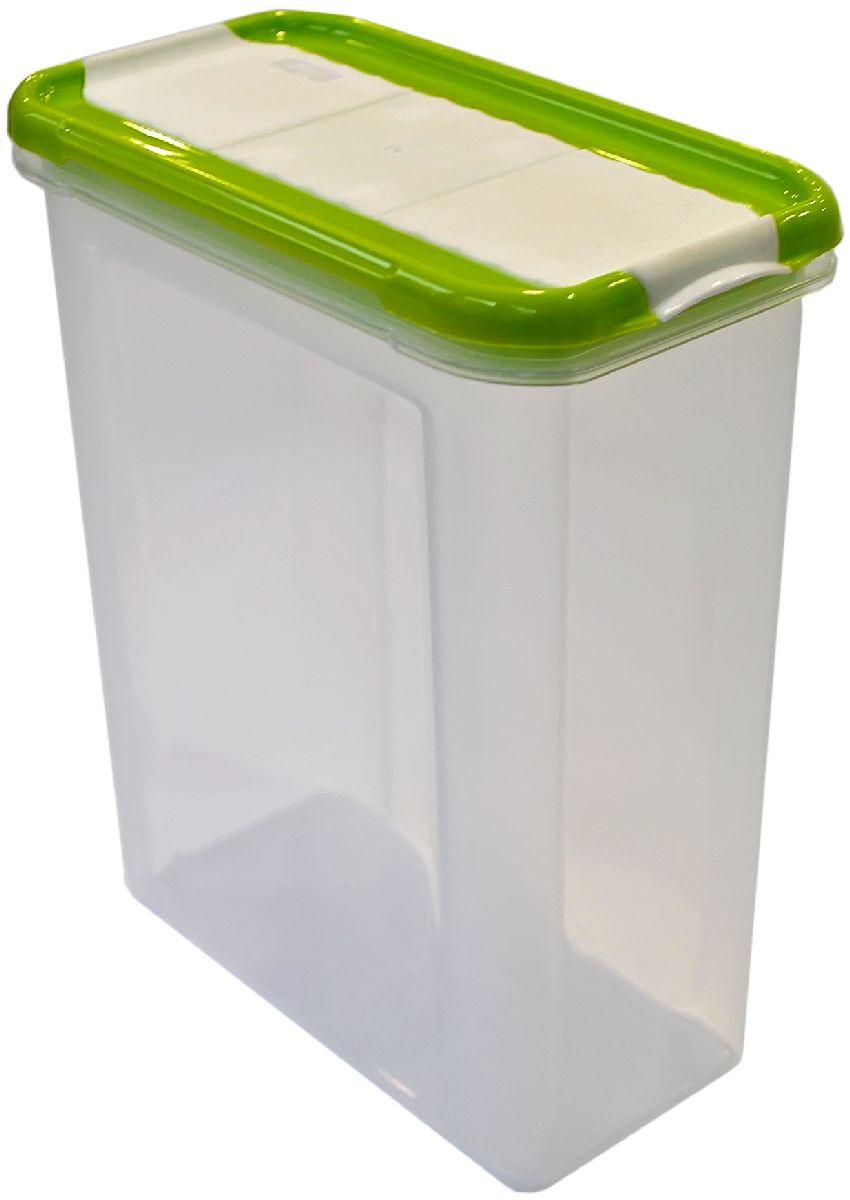 Банка для сыпучих продуктов Giaretti Krupa, с дозатором, цвет: оливковый, прозрачный, 1,5 лGR2237ОЛБанки для сыпучих продуктов предназначены для хранения круп, сахара, макаронных изделий, сладостей и т.п., в том числе для продуктов с ярким ароматом (специи и пр.). Строгая прямоугольная форма банок поможет Вам организовать пространство максимально комфортно, не теряя полезную площадь. При этом банки устанавливаются одна на другую, что способствует экономии пространства в Вашем шкафу. Плотная крышка не пропускает запахи, и они не смешиваются в Вашем шкафу. Благодаря разнообразным отверстиям в дозаторе, Вам будет удобно насыпать как мелкие, так и крупные сыпучие продукты, что сделает процесс приготовления пищи проще.