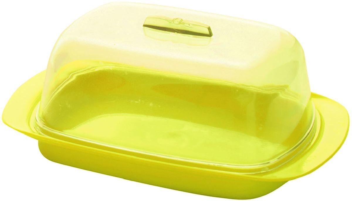 Масленка Plastic Centre, цвет: желтый, 18 х 7 х 11,5 смПЦ1450ЛМНУниверсальная масленка для хранения масла. Лаконичный дизайн и яркая цветовая гамма прекрасно подойдут как для хранения масла в холодильнике, так и для подачи на стол.
