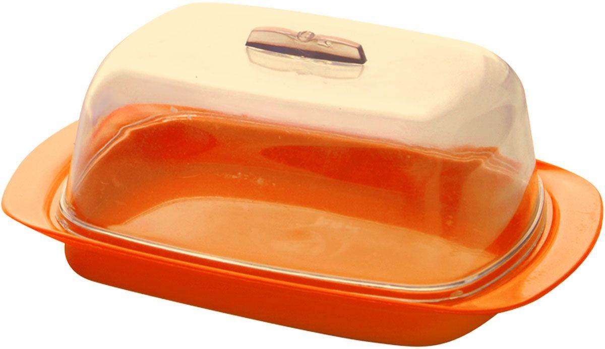 Масленка Plastic Centre, цвет: оранжевый, 19 х 7 х 11,5 смПЦ1450МНДУниверсальная масленка для хранения масла. Лаконичный дизайн и яркая цветовая гамма прекрасно подойдут как для хранения масла в холодильнике, так и для подачи на стол.